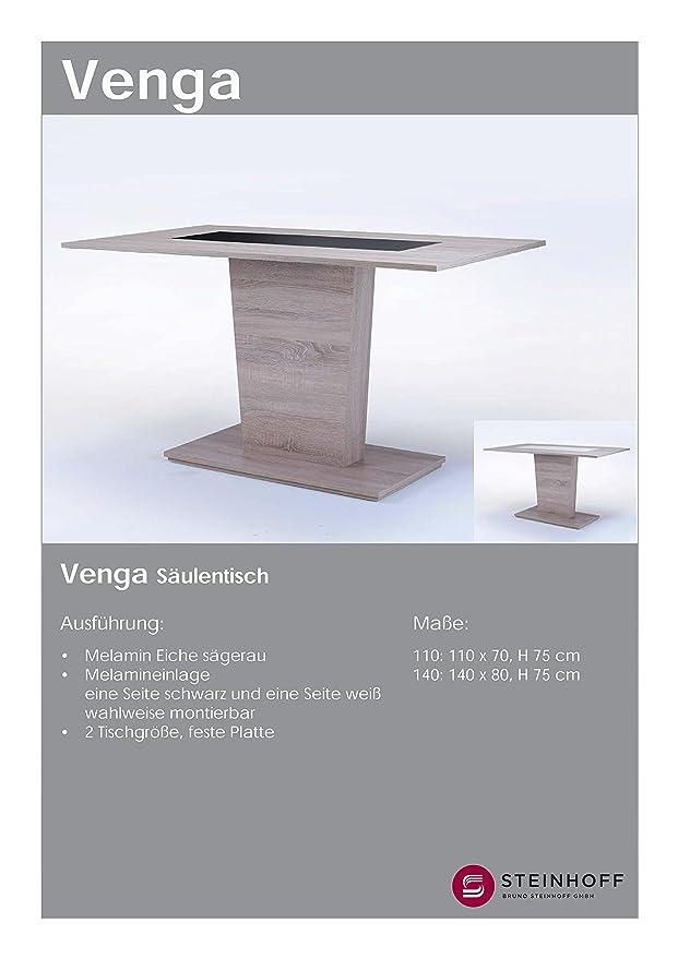 CAVADORE Esszimmertisch VENGA 110 cm breit/Moderner Esstisch mit ...