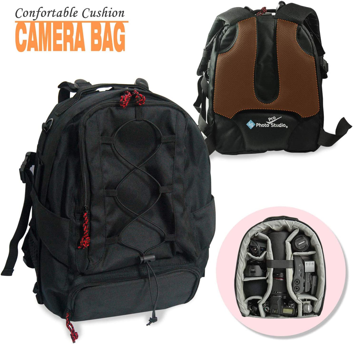 DSLR Camera Backpack Bag Case Water Resistant for Canon Nikon Sony Weather Cover