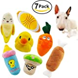 Squeaky Dog Toys, Ulable Pet Puppy Plush Sound Chew Toy Set for Small Medium Dogs and Cats Colours Vary (8 Pack)