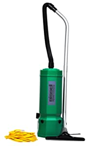 "Bissell BigGreen Commercial BG1001 High Filtration Backpack Vacuum, 1375W, 25.5"" Height, 10 qt Capacity, Red"