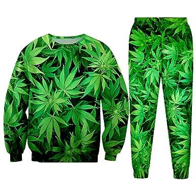 WRTCSGJPA Casual Streetwear Sudadera y Pantalones Feuille Green ...