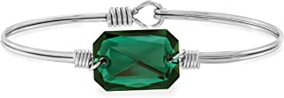 product image for Luca + Danni | Dylan Bangle Bracelet in Emerald For Women Made in USA