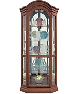 Lighthouse Serpentine Corner Curio Cabinet
