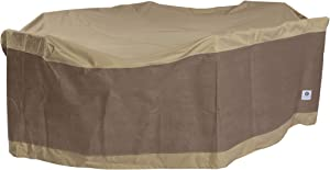 Duck Covers Elegant Rectangle/Oval Patio Table with Chairs Cover, 140-Inch