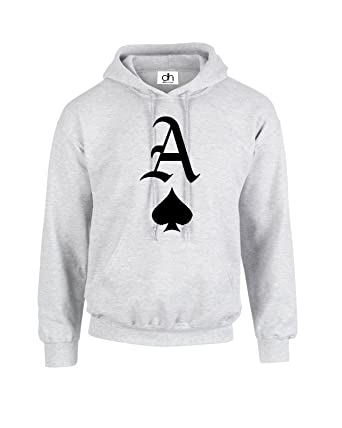 Ace Of Spades Playing Cards King Of Hearts Hoodie Hooded Pullover