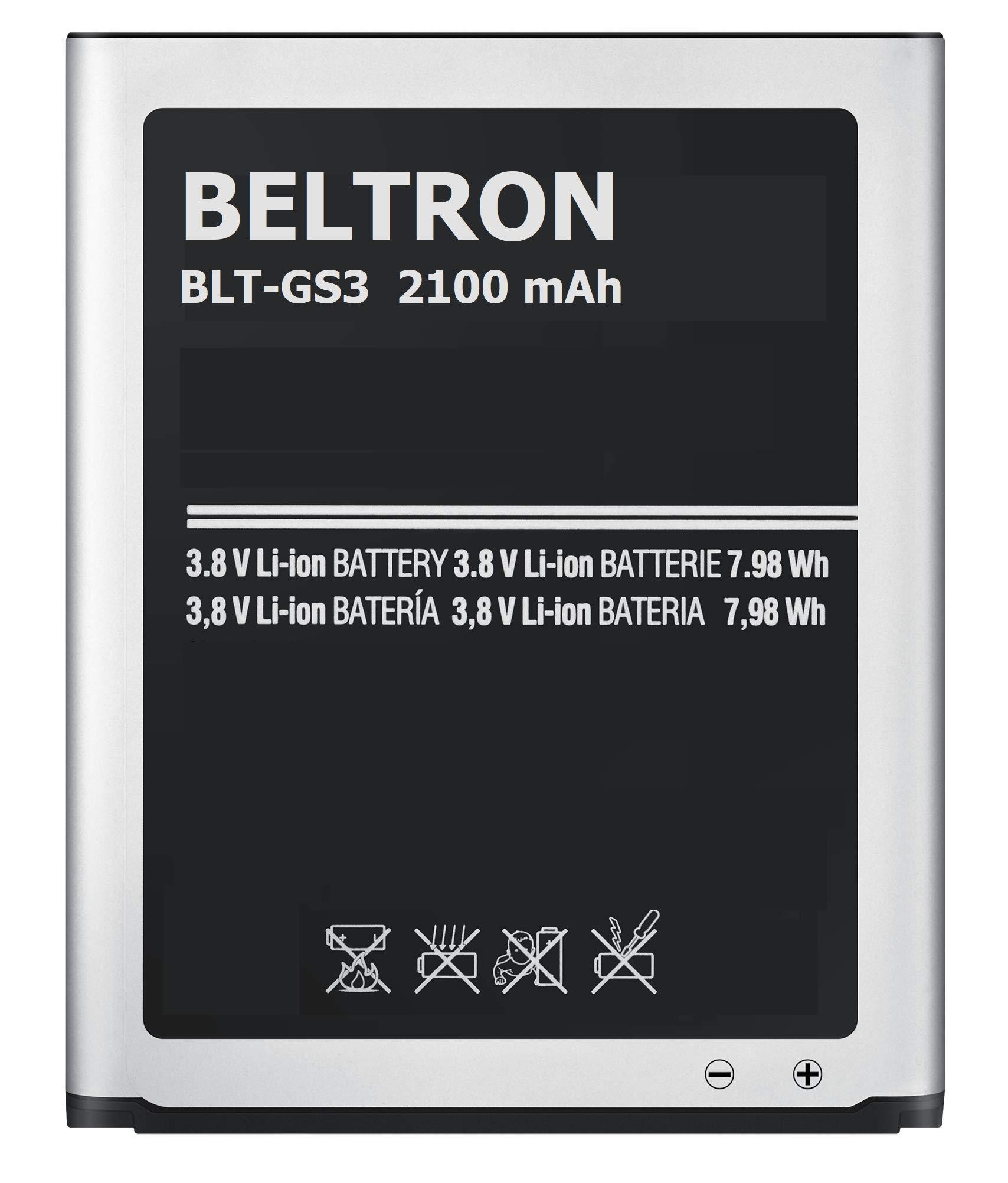 Bateria BELTRON 2100 mAh para Samsung Galaxy S3 SIII I747 I535 L710 T999 EB L1G6LLA EB L1G6LLU EB L1G6LLZ