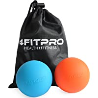 4FitPro Lacrosse bolas con bolsa de transporte, juego