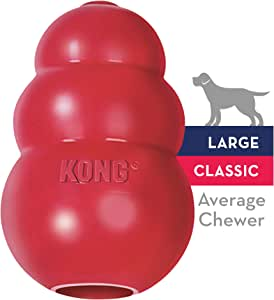 KONG - Classic Dog Toy - Durable Natural Rubber - Fun to Chew, Chase and Fetch - For Large Dogs
