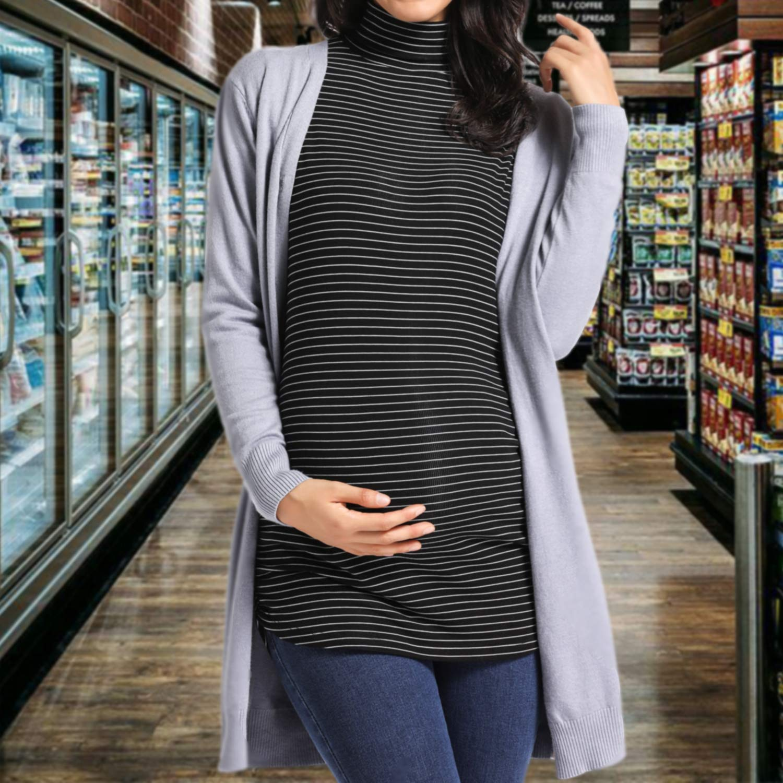 Ritera Camisetas De Mujer Maternidad Sudadera De Manga Larga Embarazada