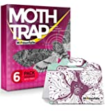 Mottenfalle Clothes Moth Traps 6-Pack - Prime Safe Non-Toxic Eco-Friendly Moth Traps with Pheromones Sticky Adhesive…