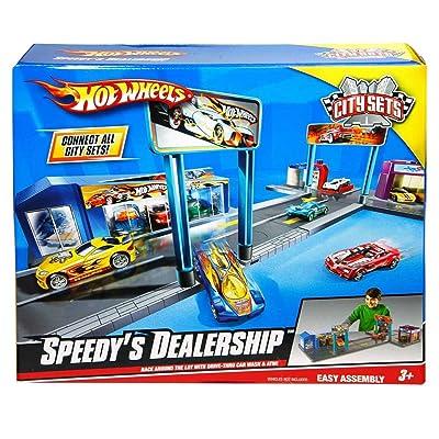 Mattel Hot Wheels Speedy Dealership Vehicle Playset: Toys & Games