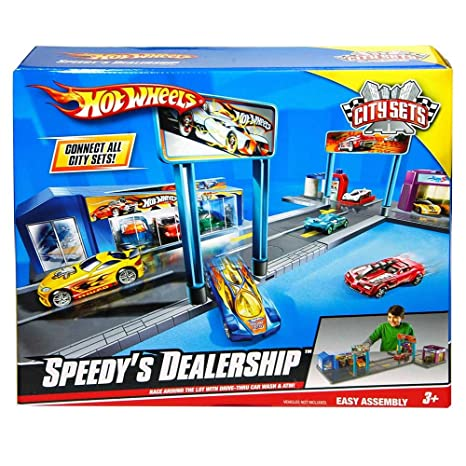 Mattel Hot Wheels Speedy Dealership Vehicle Playset