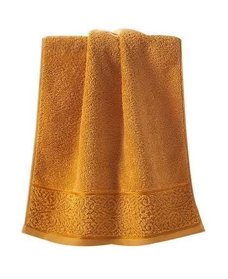 Las suaves toallas de algodón absorbente espesan las elegantes toallas europeas de color sólido, amarillas