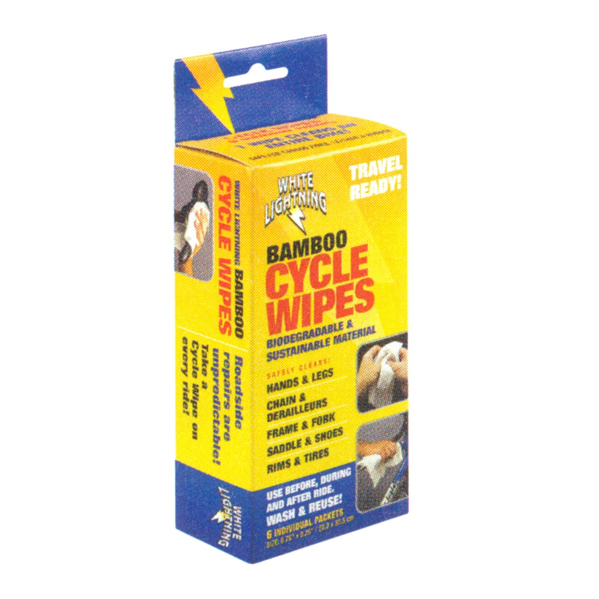 White Lightning Cycle Wipe (Pack of 6)