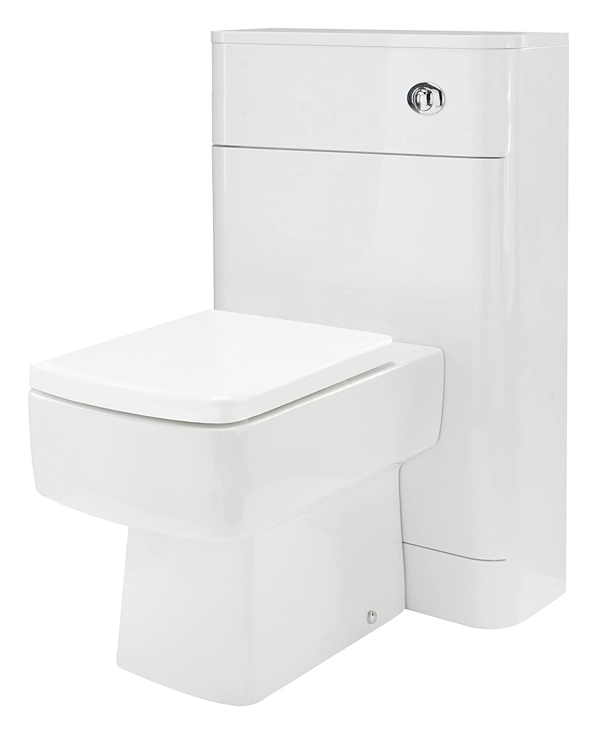 Desire High Gloss White Cyrenne wall-mounted square Vanity Unit with basin (600mm) VeeBath