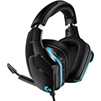 Logitech G635 Auriculares Gaming RGB con Cable, Sonido 7.1 Surround, DTS Headphone:X 2.0, Transductores 50mm Pro-G, USB…