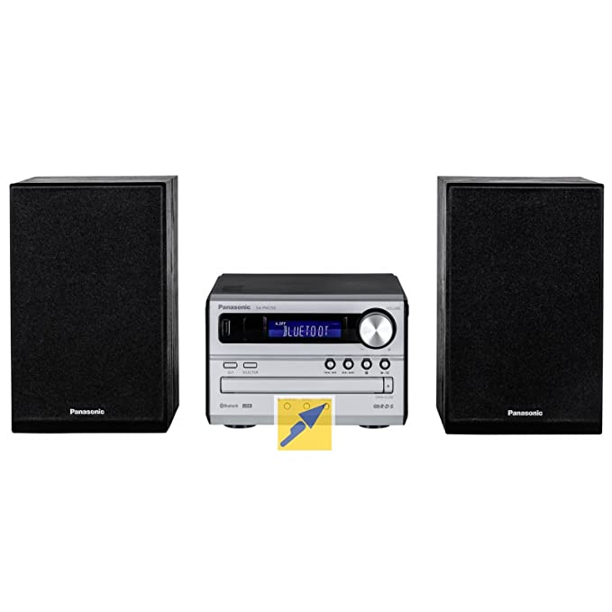 Panasonic SC-PM250 - Microcadena de 20 W (2 x 10 W, AM, FM, USB, MP3, Bluetooth), plateado: Amazon.es: Electrónica