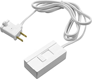 TOPGREENER Table-Top Plug in Dimmer for Table or Floor Lamps, Slide Control, works with Incandescent and Dimmable LED 360 Watt Bulbs Off at lowest dim, 6ft Cord, 120V 60Hz, TGTTDL300-W, White