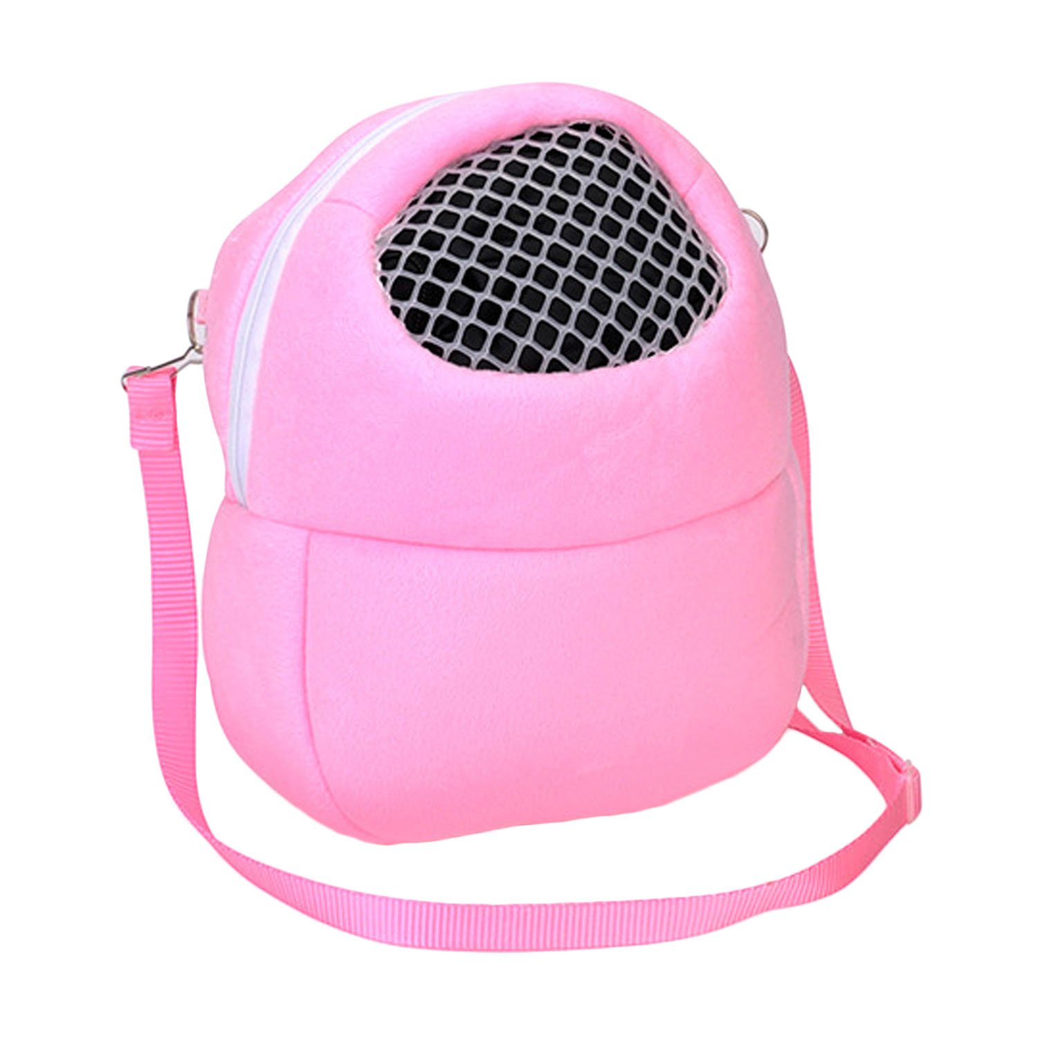 Elisona-Pet Carrier Bags, Large Portable Outgoing Breathable Hedgehog Hamster Carrier Bags, Small Pet Travel Shoulder Pet Bag £¨Medium pink£©