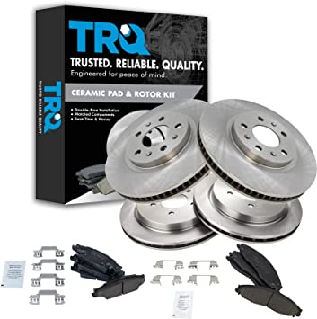 2006 2007 for Cadillac CTS Front /& Rear Brake Rotors and Pads w//FE1