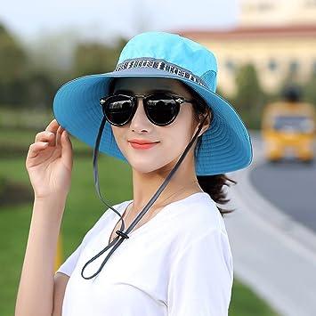 Sombrero al aire libre Montar a caballo Gorra plegable Gorra de playa de verano Gorra de viaje (Color : Azul): Amazon.es: Deportes y aire libre