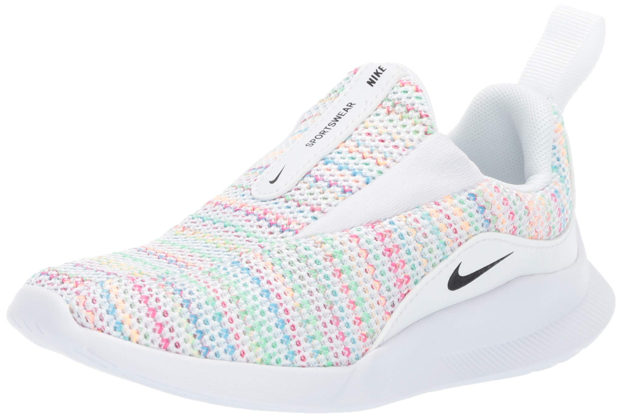 Nike Boys' Viale Space Dye (Td) Sneaker, Pure Platinum/Psychic Pink/Black, 2C Regular US Toddler by Nike