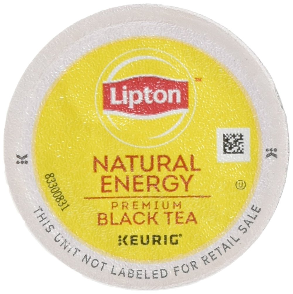 Lipton K-Cup Portion Pack for Keurig Brewers, Natural Energy Premium Black Tea, 24 count.