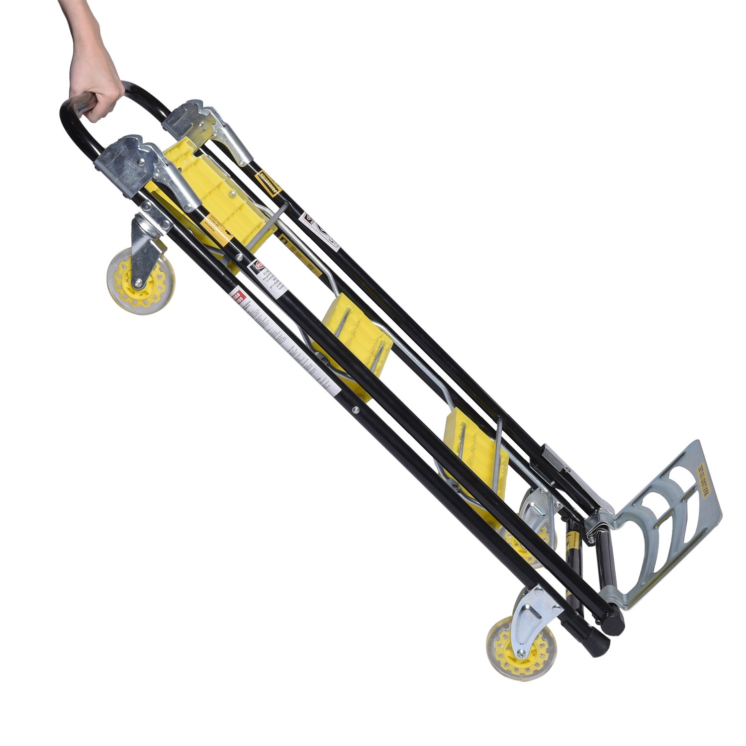 Ivation 4 in 1 Moving Trolley Step Ladder Hand Truck Furniture