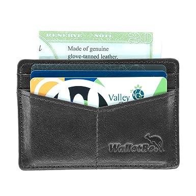 Inner ID WalletBe Men/'s Front Pocket RFID Thin Leather Wallet