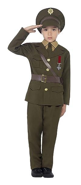 Smiffys-27536M Disfraz de Oficial del ejército, con Chaqueta ...