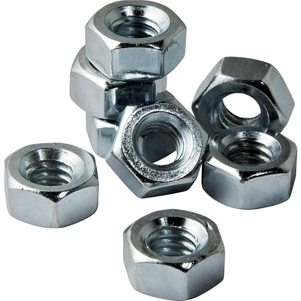 5 16 18 Zinc Coated Hex Nuts Pack of 8
