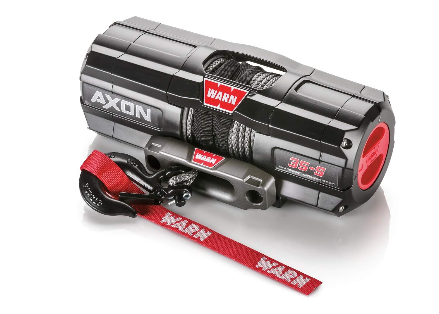 WARN 101130 AXON 35-S Powersports Winch With Spydura Synthetic Rope