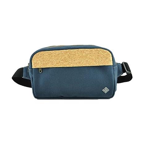 Bolsa de cinturón con corcho para hombres y mujeres paquete de charol con corcho en look