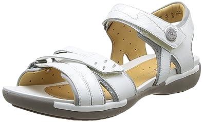 b8da3f5ab781d Clarks Women s Un Vasha Open Toe Sandals White Size  3.5  Amazon.co ...
