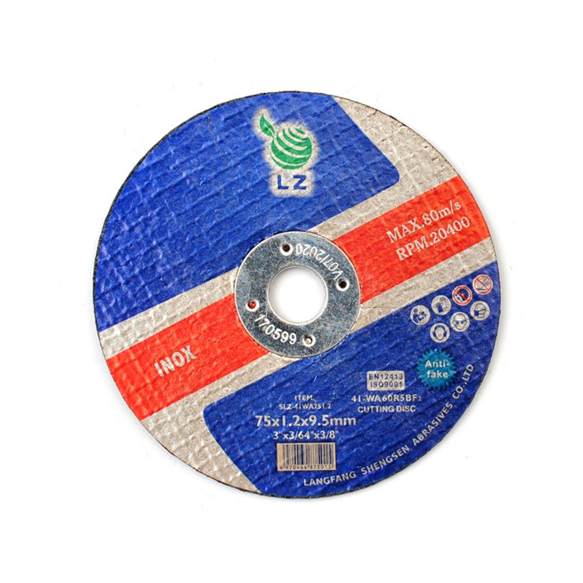 Cutting wheel Metal 75mm x 1mm x 9.5mm(3'')– Set of 25, cutting disc Air tool stainless steel cut off wheels