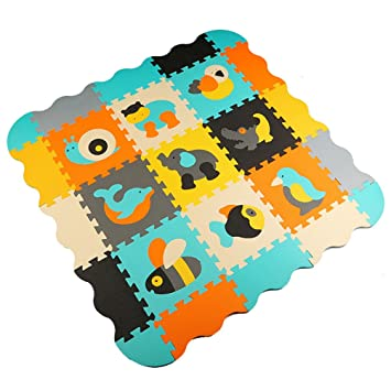 Amazon.com : Menu Life P014 Soft Foam Play Mat Interlocking ...