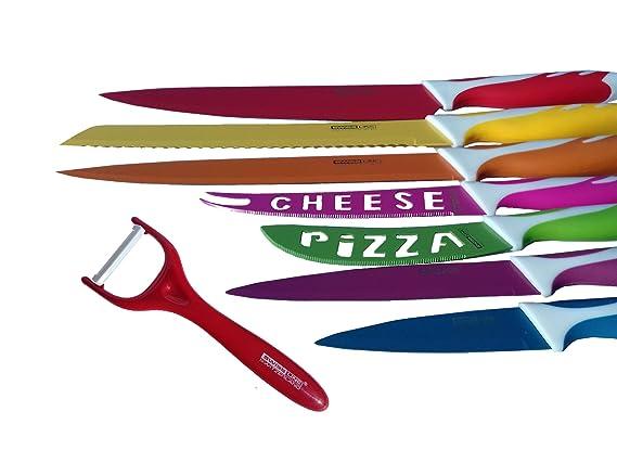 Juego de 7 cuchillos revestidos con ceràmica + Pelador ceràmico de verdura