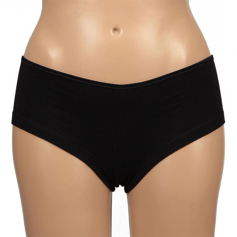 LA POP ART Bella Women s Cotton Shorties (Pack of 3)  Black Black at Amazon  Women s Clothing store  7a9ac67ad