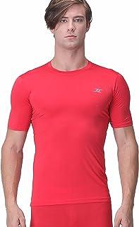 Henri Maurice Compression Shirt Short Sleeve Men Top Base Layer T Shirts for Gym Running ES