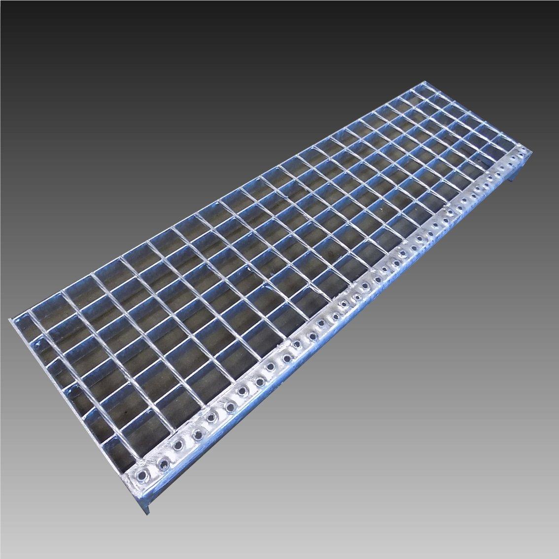 Treppenstufen Metall Stufe 1300x240x30//30mm Gitterroststufen Verzinkt