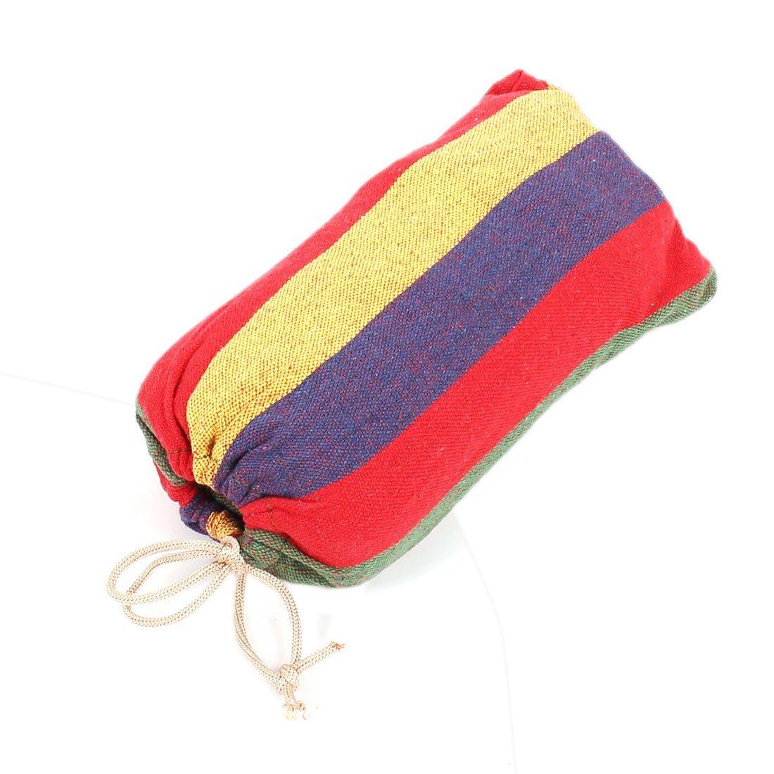 Household Supplies eDealMax Dormir Lit hamac 190x80cm coloré Toile Accueil Camping Simple net suspendu Brushes