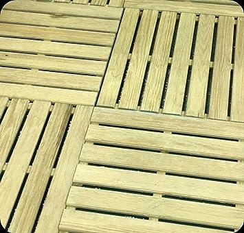 Baldosa de exterior, baldosa de suelo, 50 x 50 cm, jardín de pino impregnado: Amazon.es: Bricolaje y herramientas