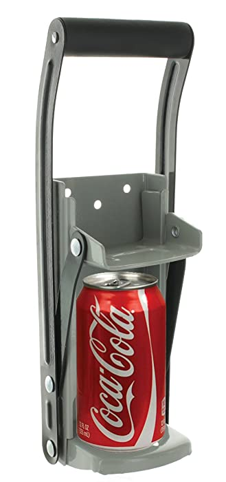 Vanitek 12 oz Aluminum Can Crusher & Bottle Opener | Heavy Duty Metal Wall Mounted Soda Beer Smasher – Eco-Friendly Recycling Tool