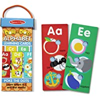 Melissa & Doug Poke-A-Dot Jumbo Alphabet Learning Cards - 13 Double-Sided Letter and First Words Cards with Buttons to…