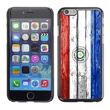 FJCases Paraguay Paraguayo Bandera con Patrón de Madera Carcasa Funda Rigida para Apple iPhone 6 /