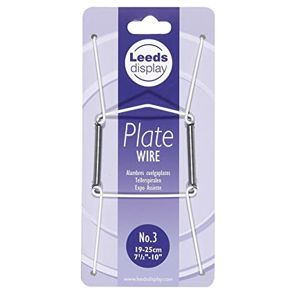 """24-36CM 2 x Wire Plate Hangers sizes No-3 9.5/""""-14/"""" Wall Holder"""