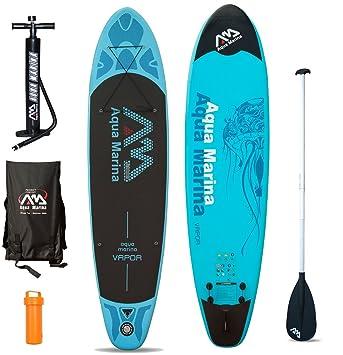 AQUA MARINA VAPOR SUP - Juego para practicar paddlesurf (incluye tabla hinchable, remo, correa): Amazon.es: Deportes y aire libre