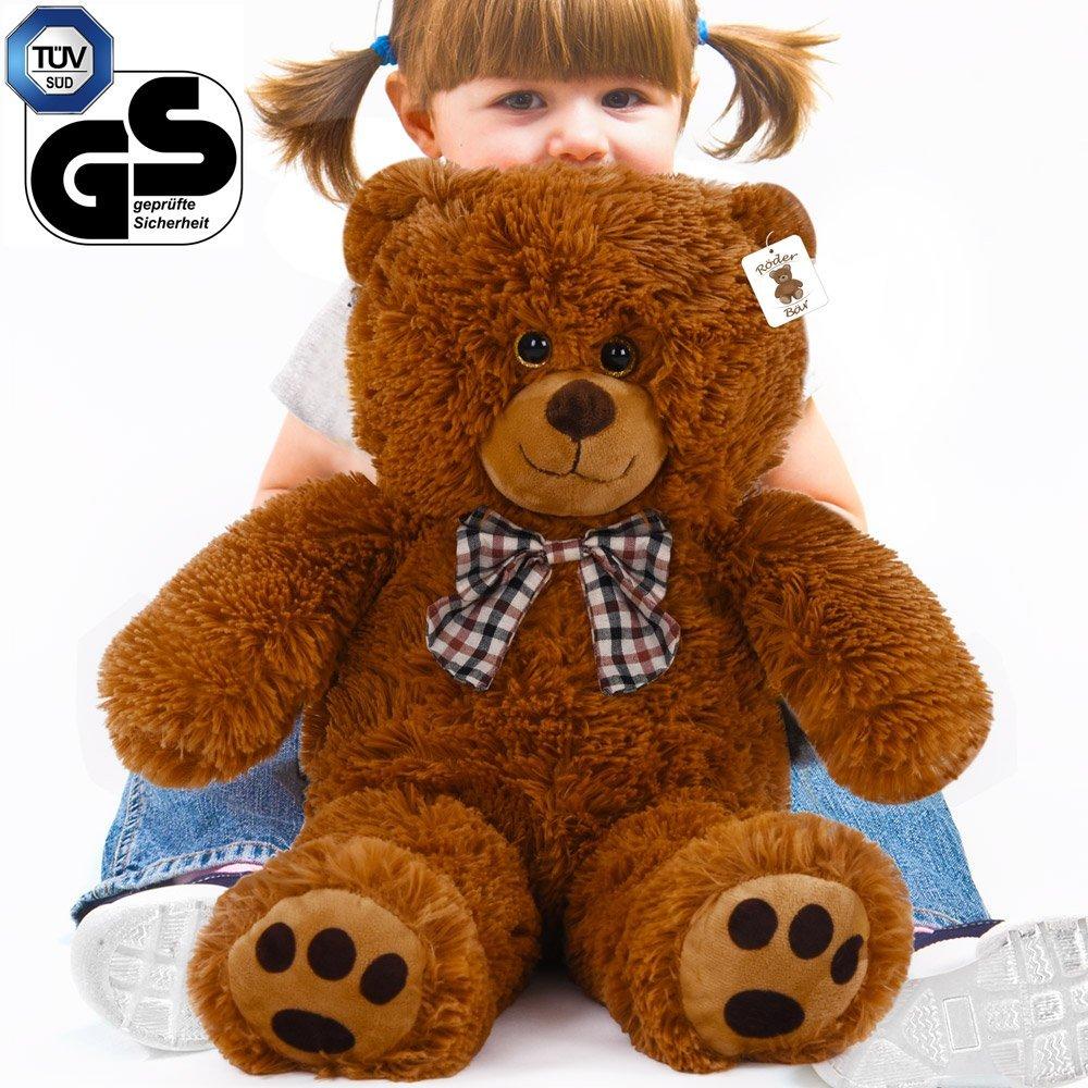 Deuba Kuschel Teddy L 50cm in Braun - Kuscheltier Stofftier Plüschbär Teddy