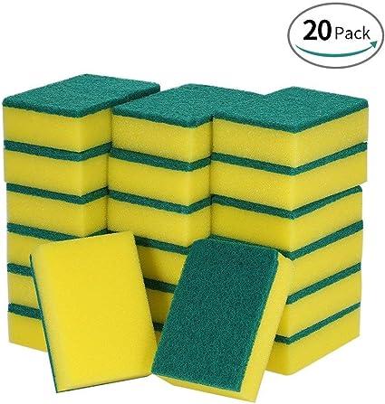TONGXU 20PCS Esponjas Mágicas de Limpieza Esponja Multifuncional Cepillo para Quitar Manchas Lavar para Garaje Cocina Baño Casa (A): Amazon.es: Hogar