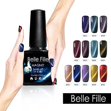 Amazon.com: Belle Fille 0.3 fl oz esmalte de uñas de gel UV ...